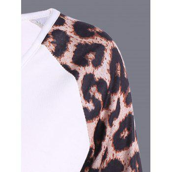 Leopard Sports Running T-Shirt - WHITE S