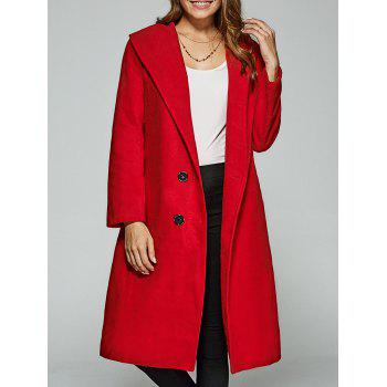 Double-Breasted Woolen Overcoat