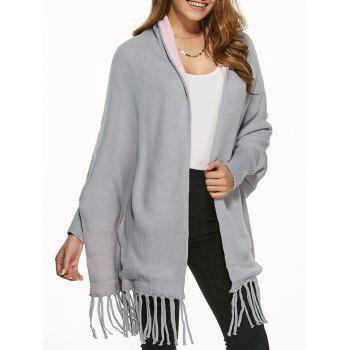 Double Side Tassels Cape Cardigan