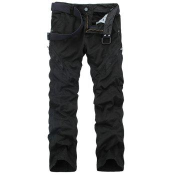 Straight Leg Zippered Mid-Rise Cargo Pants