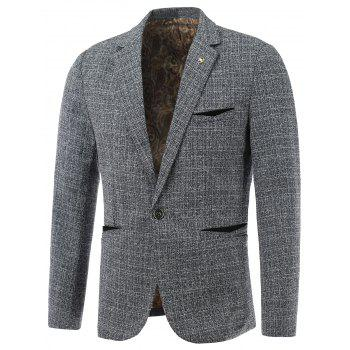 Lapel One-Button Edging Long Sleeve Blazer