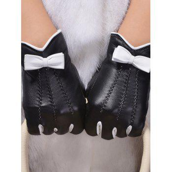 Double-Deck Bowknot Wave Cut Thicken Gloves