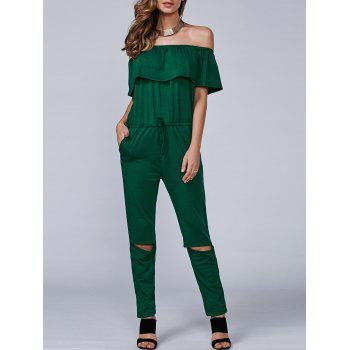 Casual Off-The-Shoulder Cut Out Jumpsuit