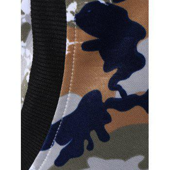 Camouflage Print Hooded Gym Outfits - JUNGLE CAMOUFLAGE JUNGLE CAMOUFLAGE