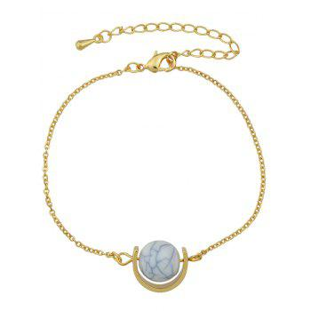 Gold Plated Faux Turquoise Horseshoe Bracelet - GOLDEN GOLDEN