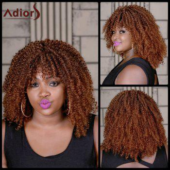Adiors Long Oblique Bang Colormix Curly Synthetic Wig - COLORMIX COLORMIX
