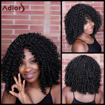 Adiors Oblique Bang Kinky Curly Long Synthetic Wig