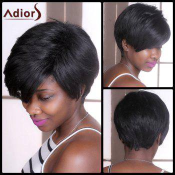 Adiors Straight Shaggy Short Synthetic Wig - BLACK BLACK