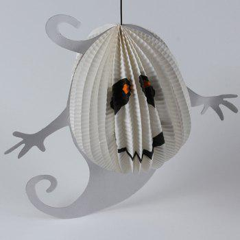 Halloween Party Supplies Peper Ghost Hanging Decoration - WHITE WHITE