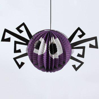 Halloween Party Supplies Paper Spider Hanging Lamp Decoration
