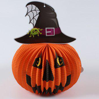 Halloween Party Supplies Paper Pumpkin Hanging Lamp Decoration