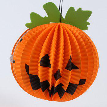 Halloween Party Supplies Pumpkin Shape Hanging Decoration - ORANGE ORANGE