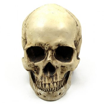 Retro Halloween Party Resin Skull Prop Decoration -  LIGHT YELLOW