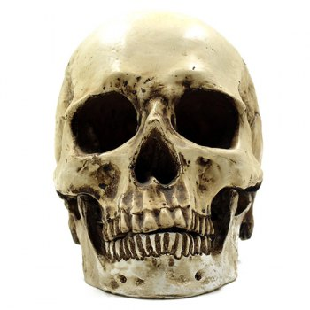 Retro Halloween Party Resin Skull Prop Decoration - LIGHT YELLOW LIGHT YELLOW