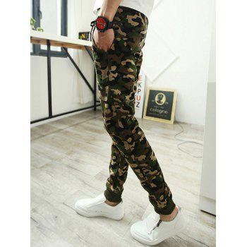 Pantalon Camo Simple Pocket Retour Drawstring Jogger - Camouflage M