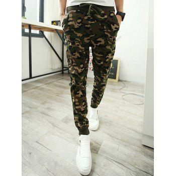 Camo Single Pocket Back Drawstring Jogger Pants