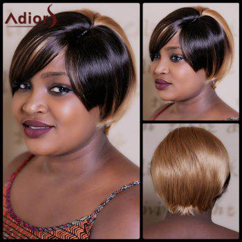 Adiors Short Double Color Straight Bob Synthetic Wig