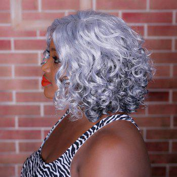 Adiors Medium Highlight Side Parting Curly Synthetic Wig - COLORMIX