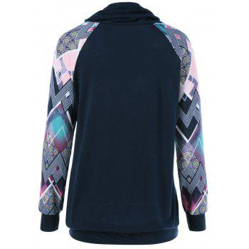 Print Sleeve Double Pockets Sweatshirt - M M