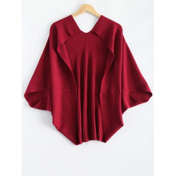 Batwing Ribbed Cape Cardigan