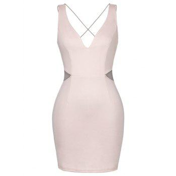 Backless Lace-Up Plung Tight Dresses