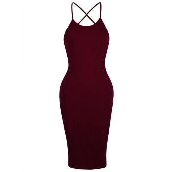 Backless Criss Cross Spaghetti Strap Short Night Out Dress