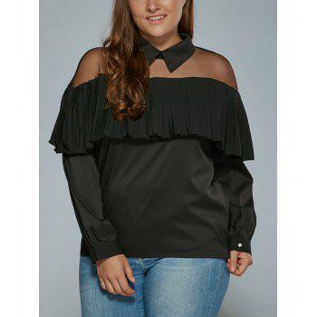 Overlay See Through Blouse