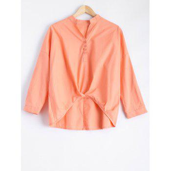 Long Sleeve High Low Blouse