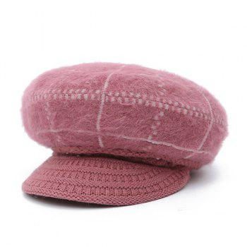 Winter Fake Pearl Knitted Newsboy Hat