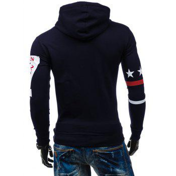 Slim-Fit Seven Printed Hoodie - CADETBLUE L