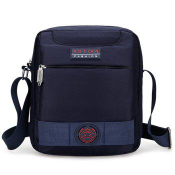Nylon Zippers Dark Colour Crossbody Bag - DEEP BLUE DEEP BLUE
