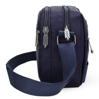 Dark Colour Zip Nylon Crossbody Bag -  DEEP BLUE