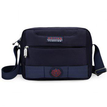 Dark Colour Zip Nylon Crossbody Bag - DEEP BLUE DEEP BLUE
