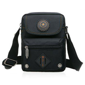 Dark Color Metal Nylon Crossbody Bag