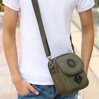 Dark Color Metal Nylon Crossbody Bag - ARMY GREEN