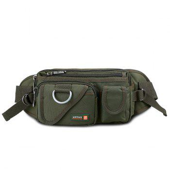 Dark Color Metal Pockets Waist Bag