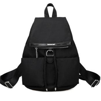 Metal Zipper Drawstring Backpack