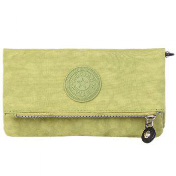 Stitching Zip Metal Clutch Bag
