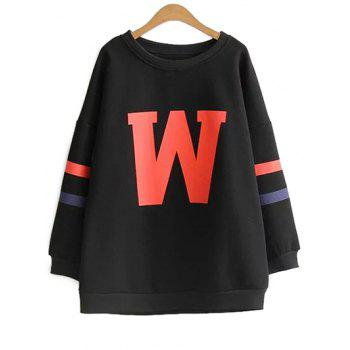 Plus Size Thick Letter Sweatshirt