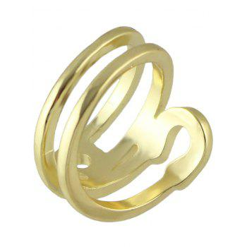 Hollowed Safety Pin Ring - GOLDEN ONE-SIZE