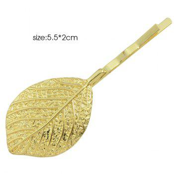 Leafage Sculpture Alloy Hairpin - GOLDEN