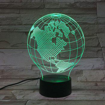 Home Decor 3D Visual Color Changing Tellurion Shape Night Light - COLORFUL
