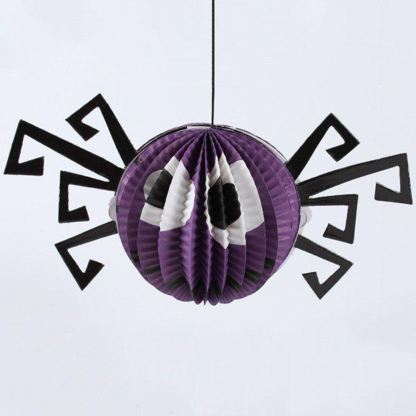 Halloween Party Supplies Paper Araignée Lampe suspendue Décoration - Pourpre