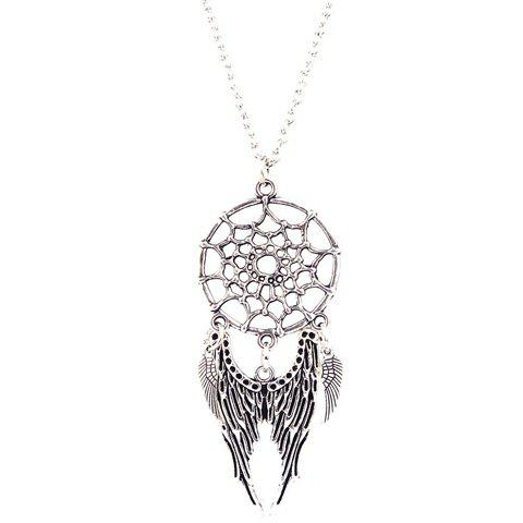 Angel Wings Cobweb Necklace - SILVER