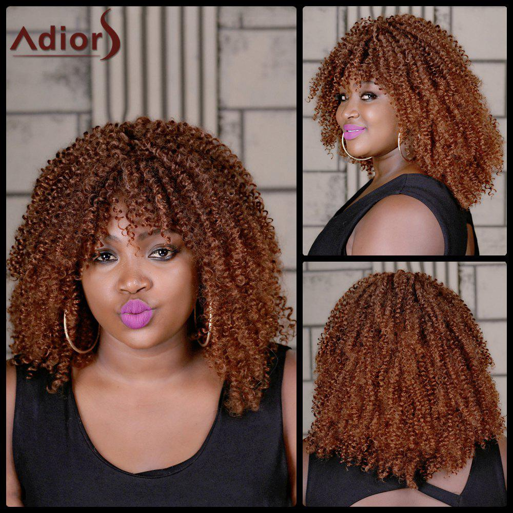 Adiors Long Oblique Bang Colormix Curly Synthetic Wig - COLORMIX