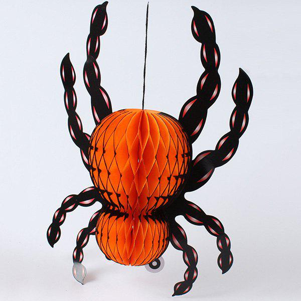 Halloween Party Supplies Hanging Paper Insect Lantern Decoration - ORANGE