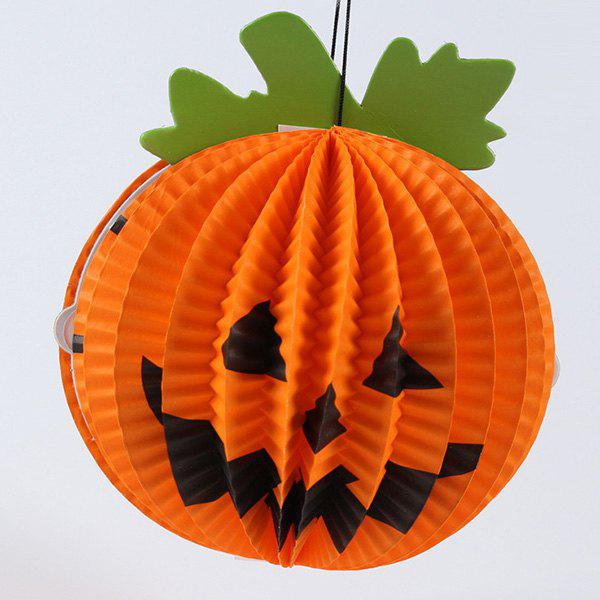 Halloween Party Supplies Pumpkin Shape Hanging Decoration - ORANGE