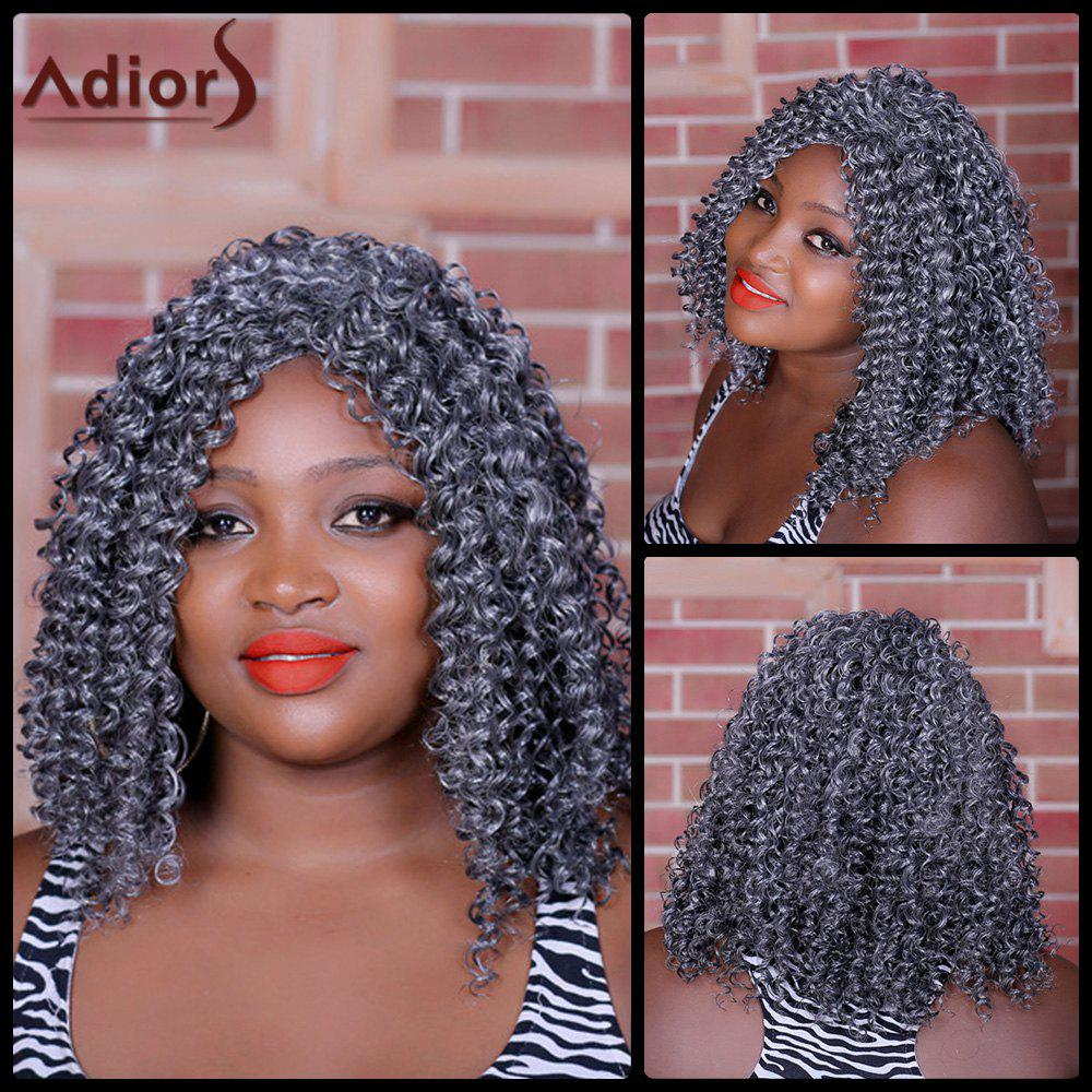 Curly long Moyen Parting Adiors perruque synthétique - multicolorcolore