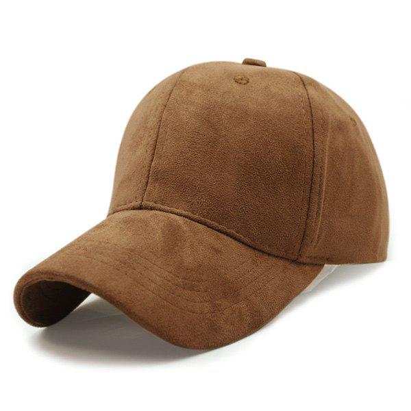 Stylish Solid Color Faux Suede Baseball Hat chic ice cream color suede baseball hat