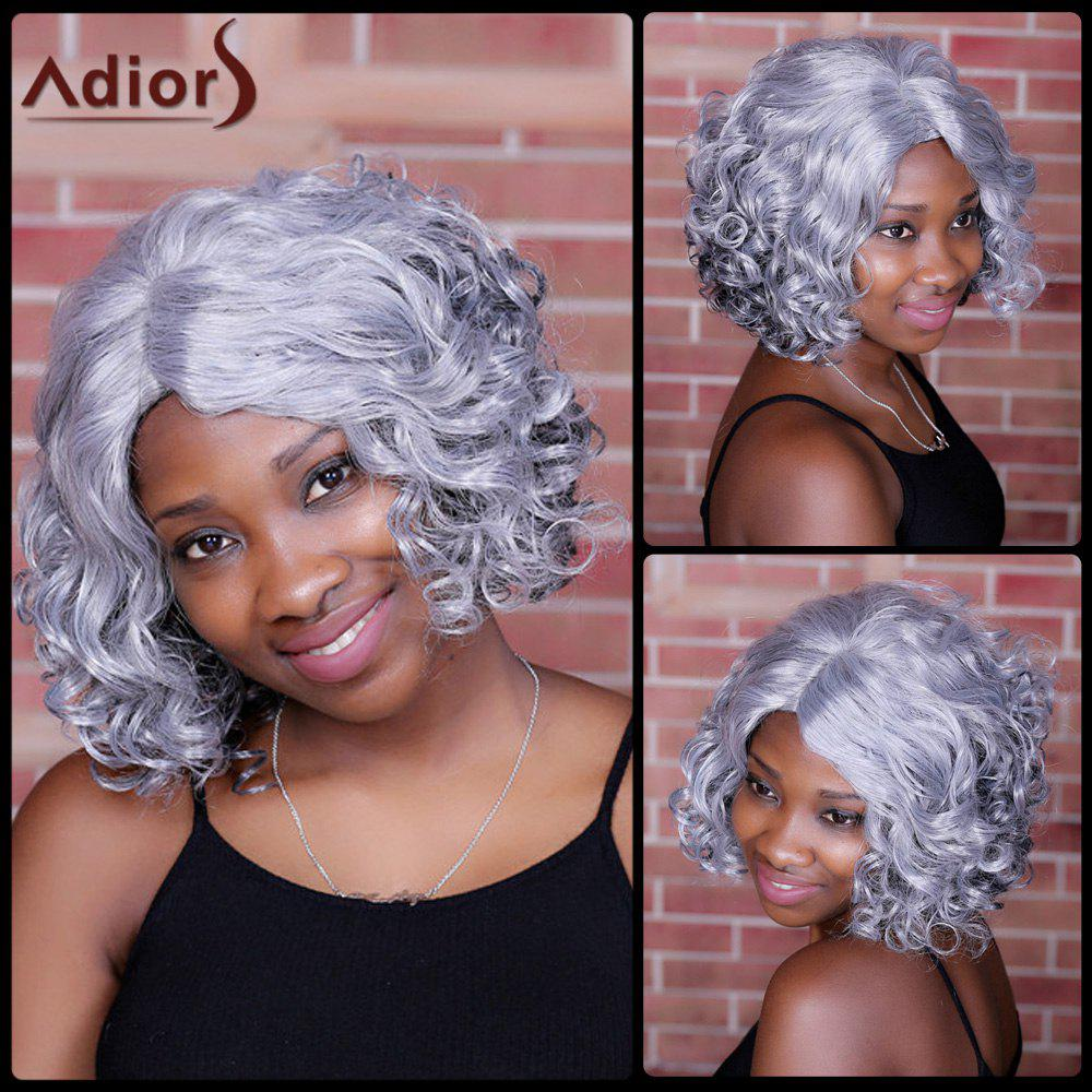 Adiors Side Parting CMedium urly Colormix Synthetic WigHair<br><br><br>Color: COLORMIX